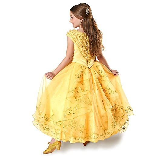 74978eb53b7 Amazon.com  Disney Belle Limited Edition Costume for Kids - Beauty and the  Beast - Live Action  Clothing