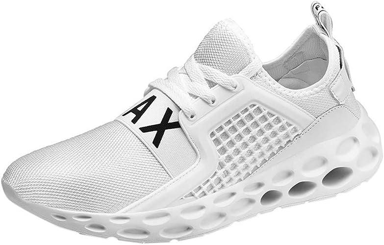MEETEW - Zapatillas de Running para Hombre y Mujer, Color Blanco, Talla 39: Amazon.es: Zapatos y complementos