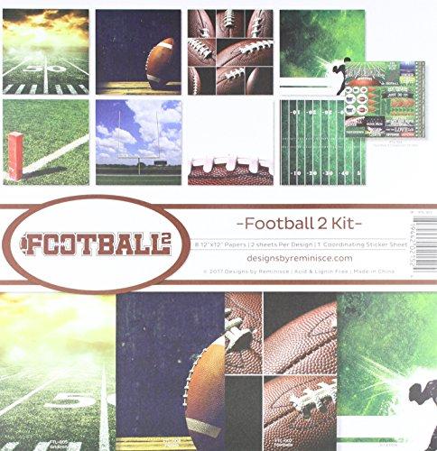 Football Scrapbooking - Reminisce Football 2 Collection Scrapbook Kit