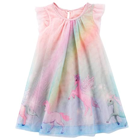 Vestido de Unicornio para Niñas Bebé Sin Mangas Tutú Casual ...