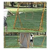 EZGoal Pro Lacrosse Folding Throwback Rebounder, Orange, 6'X6'