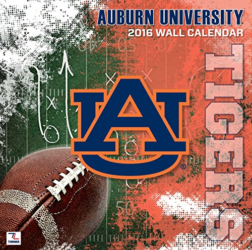 "Turner Auburn Tigers 2016 Team Wall Calendar, September 2015 - December 2016, 12 x 12"" (8011797)"
