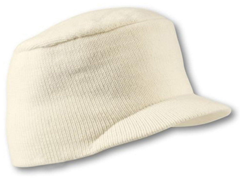 A-SO-2 Army Urban Strickcap - Wintercap für Damen und Herren braun oliv schwarz weiß weiss (wollweiß)