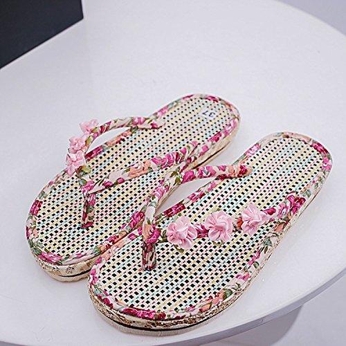 y Donyyyy Cool Maraña Flor Chanclas Ocio Prevención de Skid Femenina Thirty Casual Beach eight Mujer Zapatillas transpirabilidad OOq8wrdIx