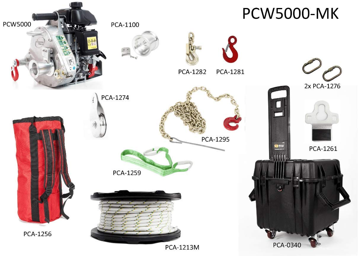 PCW5000-FK Portable Capstan Winch Forestry Assortment