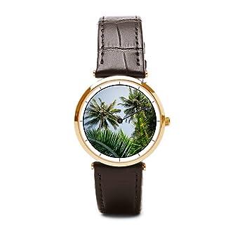 Amazon.com: Tinax Watch Leather Strap Palm Watch With ...