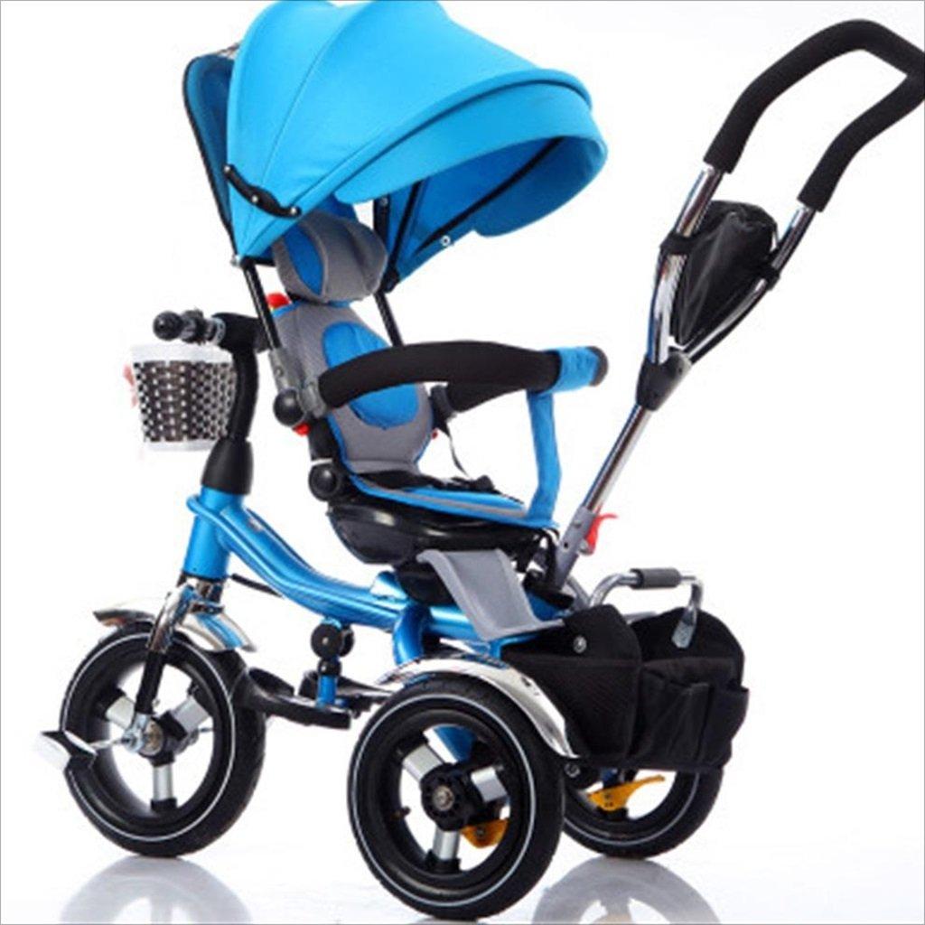 子供の屋内屋外の小さな三輪車自転車の男の子の自転車の自転車6ヶ月-5歳の赤ちゃん三輪車の天井、インフレータブルホイール/回転座席 (色 : 1) B07DVB5513 1 1