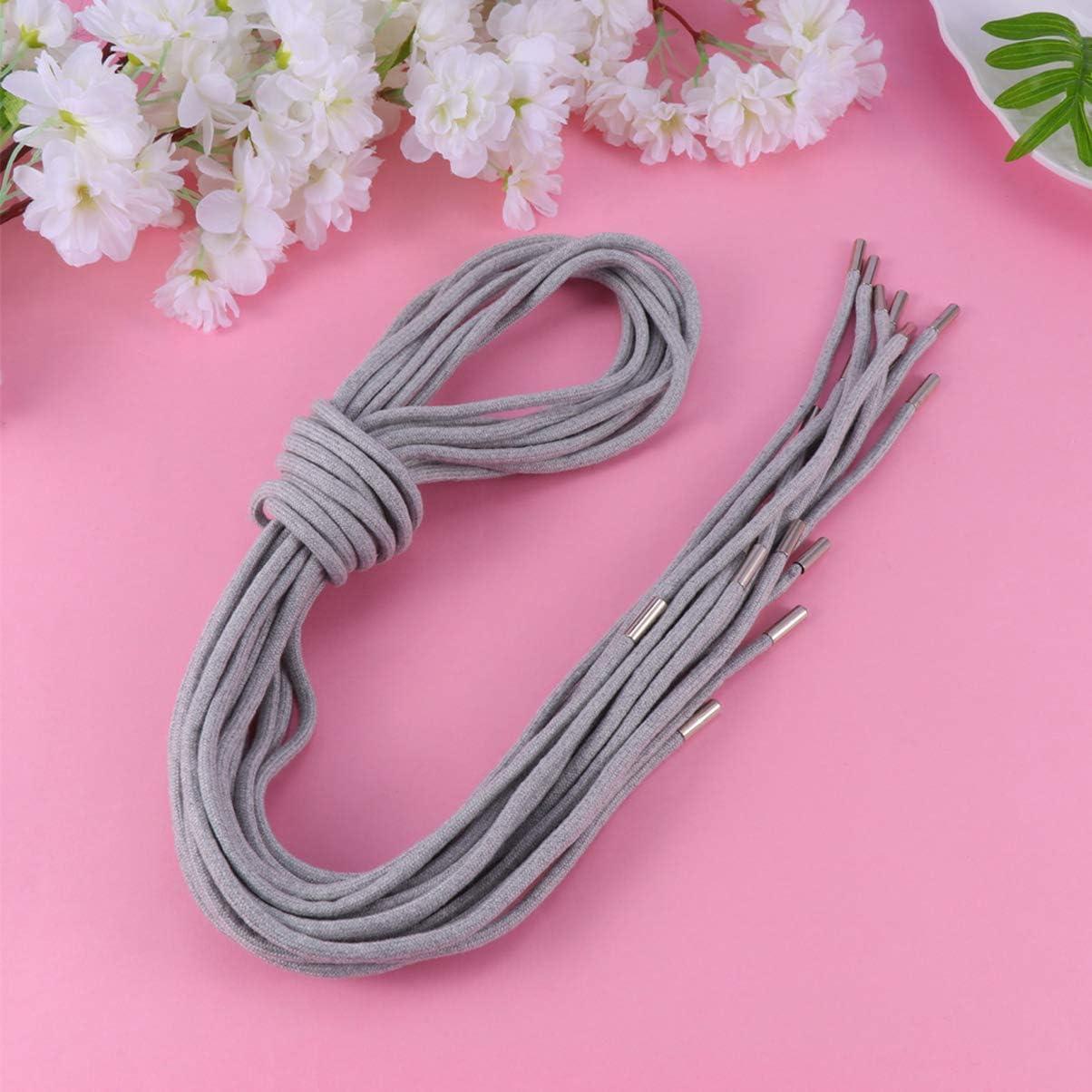 2 Pieces Nylon Drawstring Cord 130cm Shoelace Sweatpants Shorts String Black