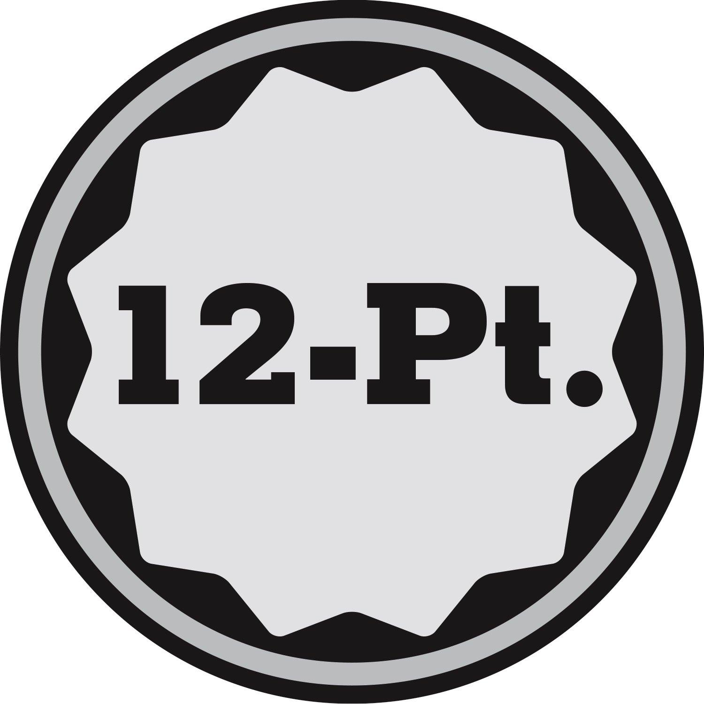 Powerbuilt 643214 3//4-Inch Drive 12 Point 1-3//4-Inch Socket
