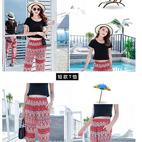 Vestido Parte De Del Shirt Plisado La Tubo GAOLIM Arnés Negro T Vacaciones Corto Superior Femenino L p5nzTgq