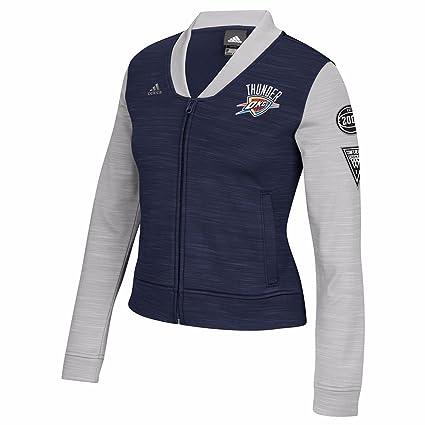 promo code 1566f 0bbc1 adidas Oklahoma City Thunder NBA Navy Blue On-Court Full Zip Track Jacket w