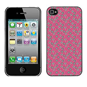 ZECASE Funda Carcasa Tapa Case Cover Para Apple iPhone 4 / 4S No.0000758
