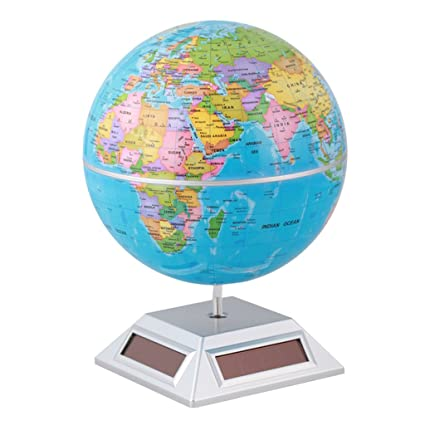Buy Solar Powered Self Rotating Globe Earth Globe World