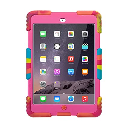 newest collection eb4f9 233db Aceguarder iPad Mini 1 & 2 & 3 Case, Shockproof Kids Proof with Stand Full  Protection with Kickstand & Screen Protector Cover Case for iPad Mini 3 & 1  ...