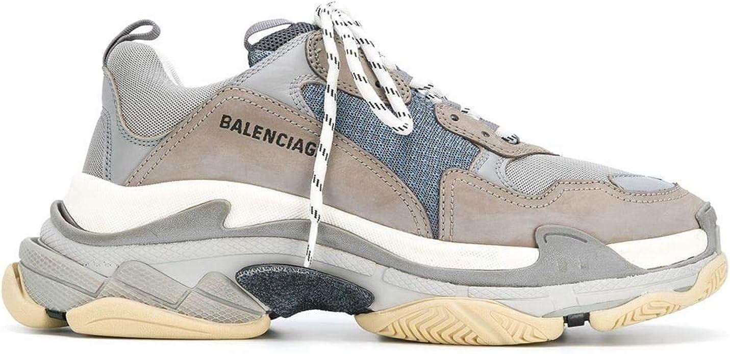 Balenciaga Luxury Fashion Mens Sneakers Winter Grey