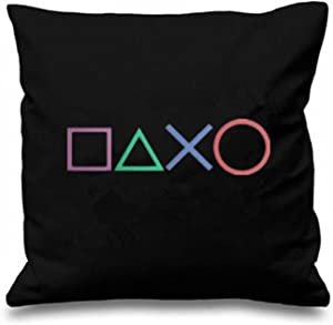 yowming Black Art Design Buttons Throw Pillow Case Novelty Gaming Decorative Cushion Cover Cool Game Gamer Gifts Home Decor