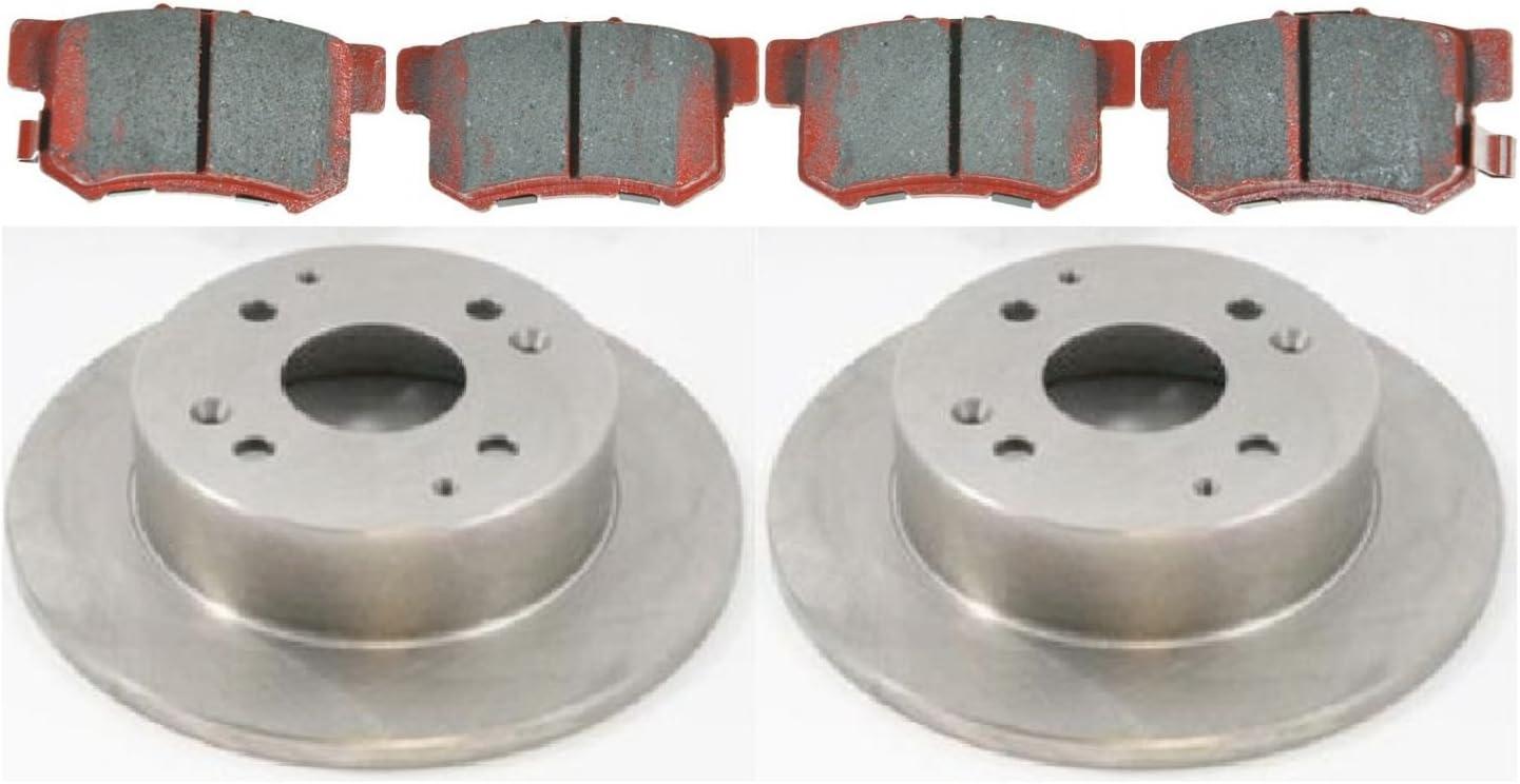 Front Kit 2 Brake Rotors Pads High-End Fits: Accord CL 4lug 4 Semi-Met
