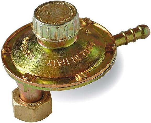 Mondial GB LP060T26-02A - Regulador de gas BP rotativo 1 kg/h. Reductor de baja presión, casquillo vertical 90°, calibradas variable 20-60 mbar, ...