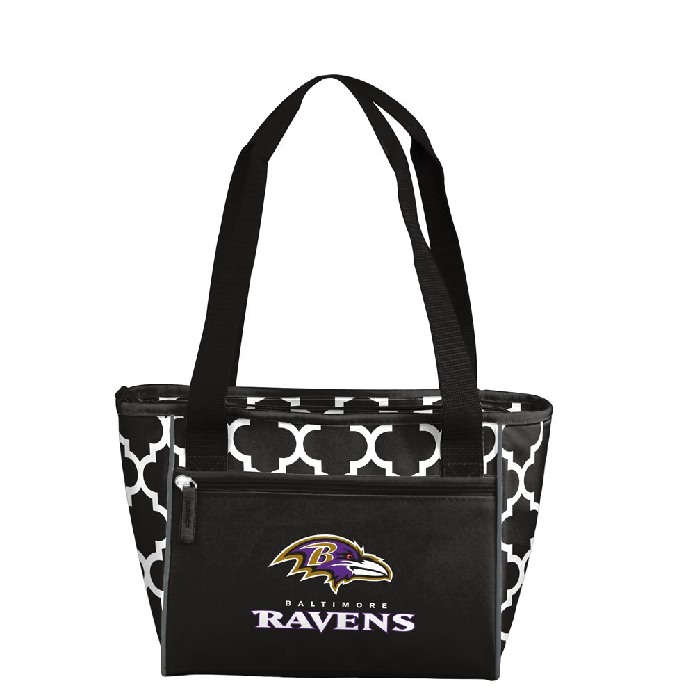NFL Baltimore Ravens 16 Can Cooler Tote, Black, One Size