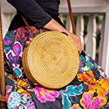 Rattan Bags For Women Straw Wicker Purse Round