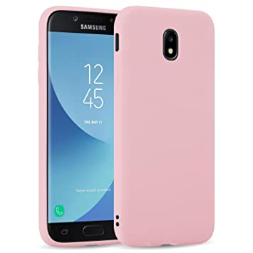 Funda Galaxy J5 2017, JAMMYLIZARD Carcasa TPU Ultra Fina Goma De Silicone [ Jelly Case ] Back Cover Case Para Samsung Galaxy J5 2017, ROSA MELOCOTÓN