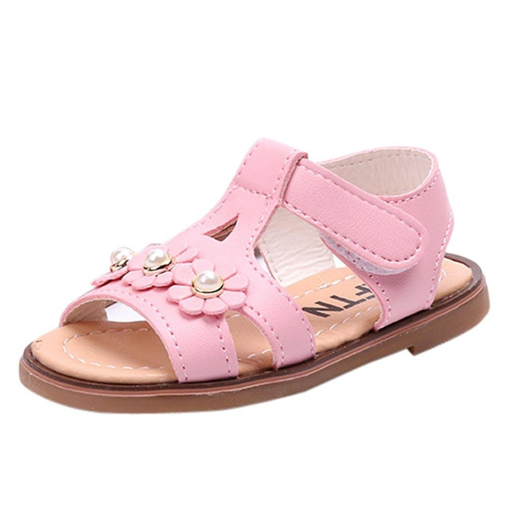 Lanhui Baby Kids Girl Sandals Flower Fashion Leather Single Casual Shoes