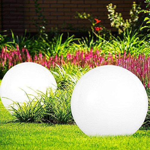 3 x lampe solaire LED boule luminaire extérieur blanc IP44 éclairage ...