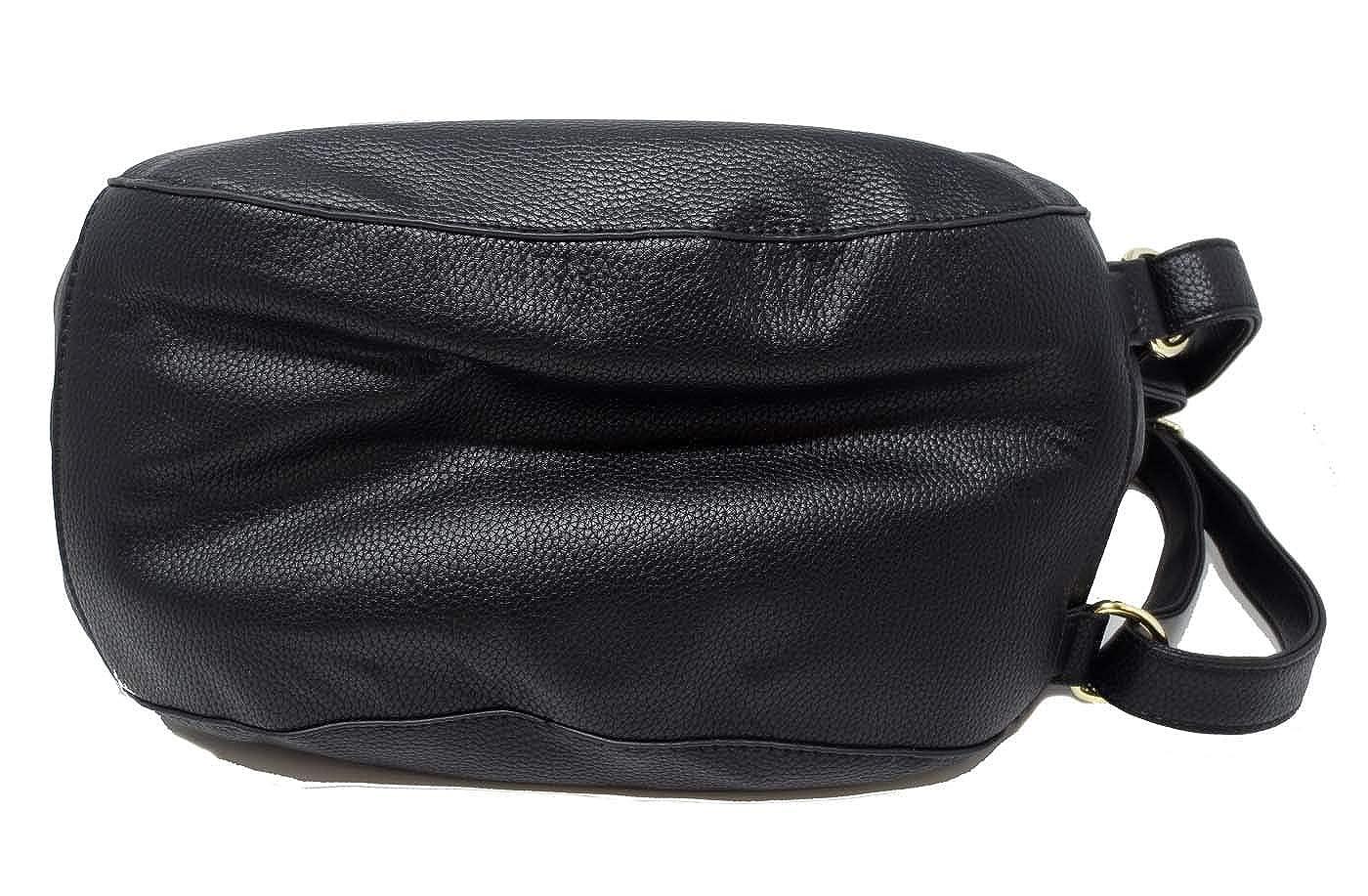 Simply Noelle Vegan Leather Buckle Collection Convertible Shoulder Handbag HB2090