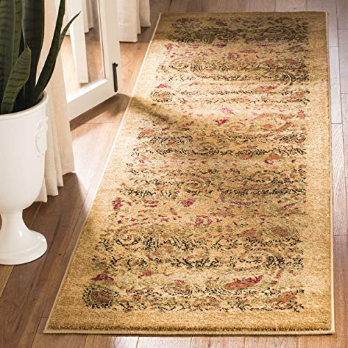 Gold Rug Antique Rectangle (Safavieh Lyndhurst Collection LNH224A Traditional Paisley Beige and Multi Runner (2'3