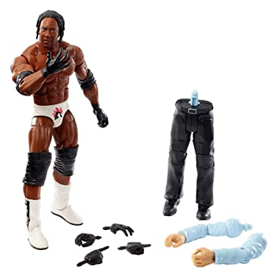 WWE Elite Collection Booker T Wrestlemania 19 Action Figure, Multi: Toys & Games