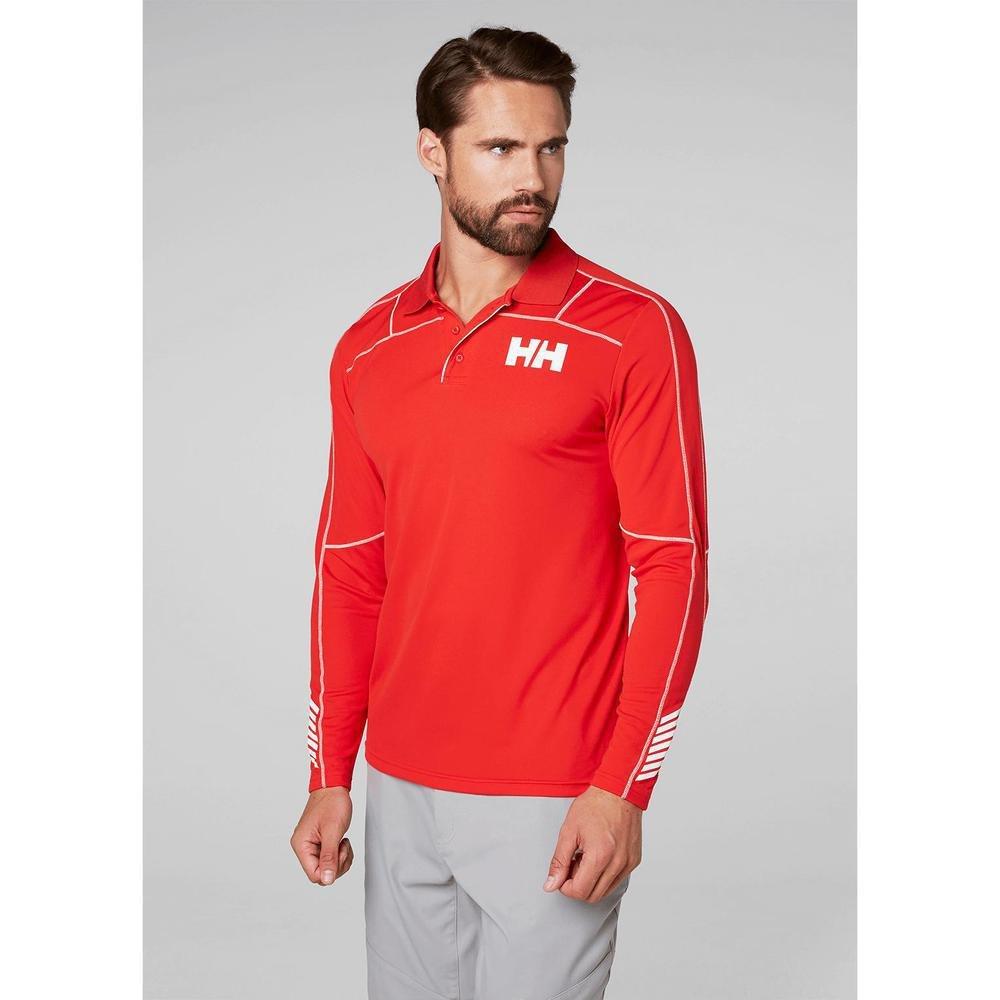 Helly Hansen HH LIFA Active Light LS Polo, Hombre, Rojo (Rojo 222 ...