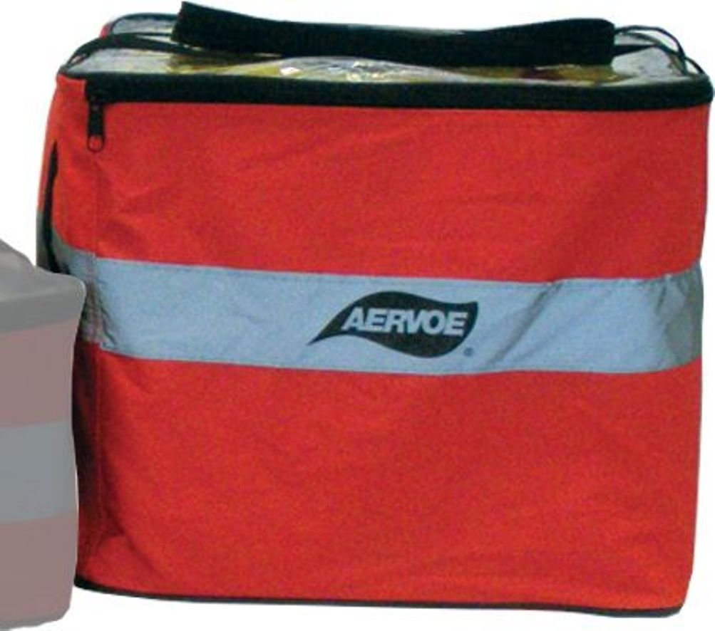 Aervoe 28-Inch Collapsible Orange Safety Cones with Red Flashing Light (Pack of 5)