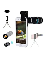 Cell Phone Camera Lens,Universal 20X Clip On Zoom Telephoto,Stronger Phone Tripod, Monocular Telescope Eyecup Mobile Suitable Almost Most Smartphones Market Compatible With IPhone Samsung Huawei