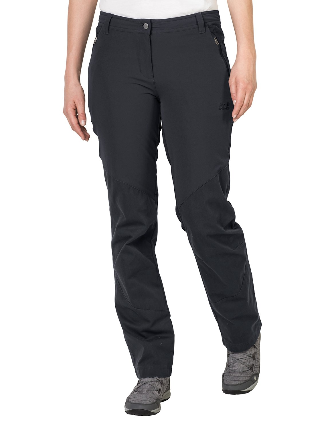 Jack Wolfskin Women's Drake Flex Pants, Phantom, 44 (US 34/32)