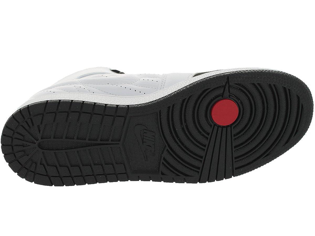 Jordan Nike Kids Air 1 Retro 99 Bg White//Black//Gym Red Basketball Shoe 6 Kids US