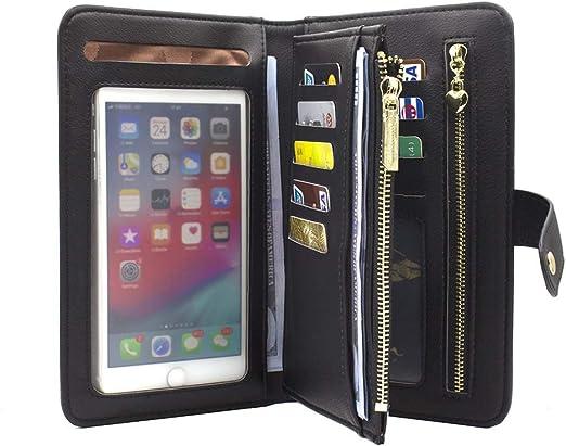 Women Lady Leather Wallet Long Large Purse Card Phone Holder Case Clutch Handbag