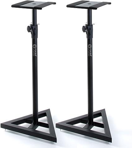 Display4top Altura ajustable 6 pareja de soportes de altavoz para monitor de estudio de estudio Soportes de altavoz 80 cm, 90 cm, 100 cm , 110 cm, 120 cm, 130 cm
