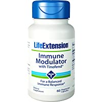 Immune Modulator With Tinofend, 60 Vcaps by Life Extension (Pack of 4)