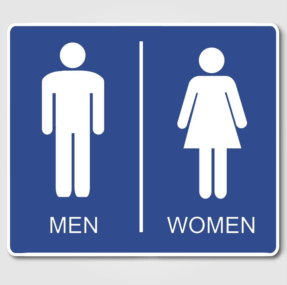 fc7b2469c 999STORE Vinyl PVC Men and Women Wall Sticker for Restroom and Home Decor ( Blue