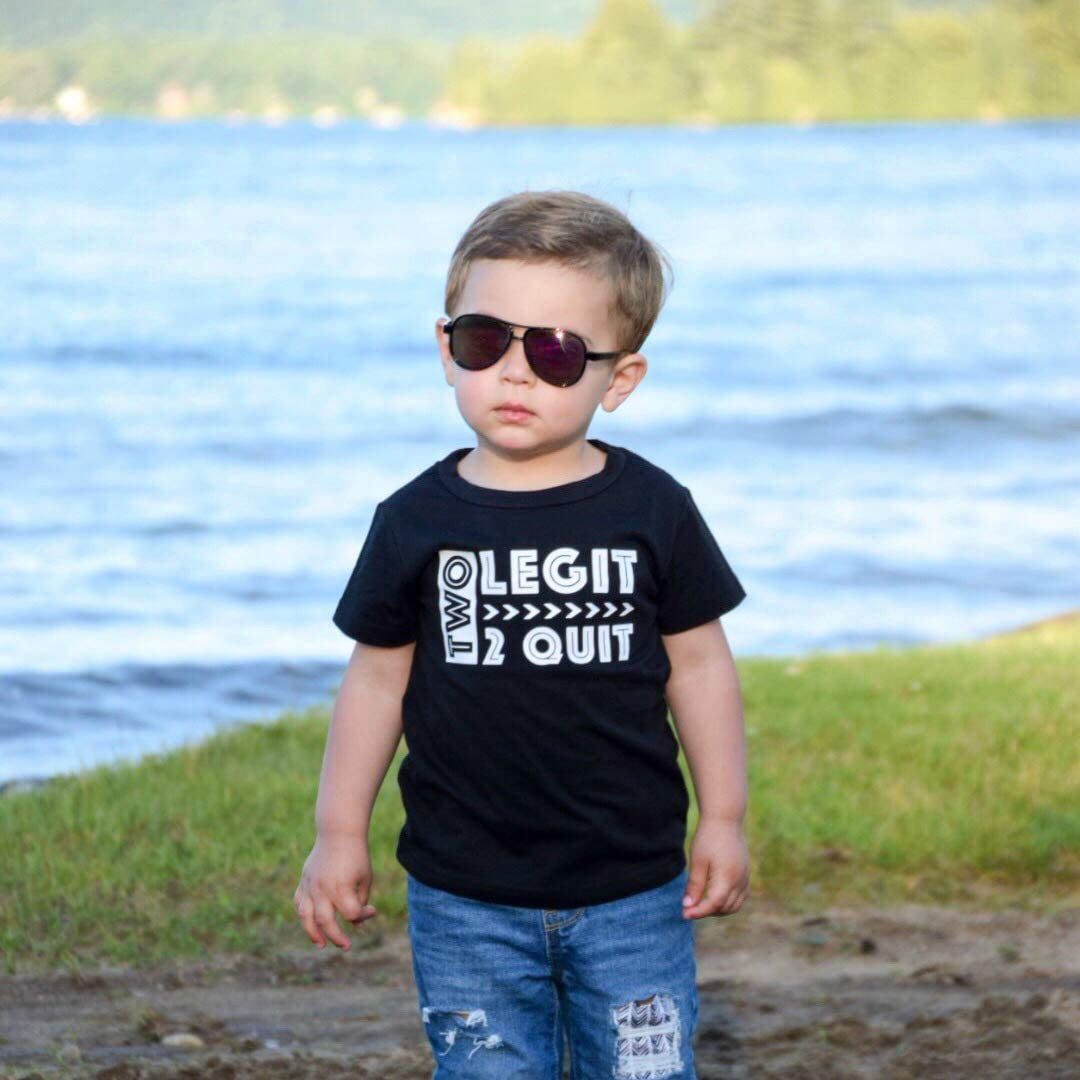 Kids Childrens Moustache and Sunglasses Face Funny T-shirt 5-13 Years