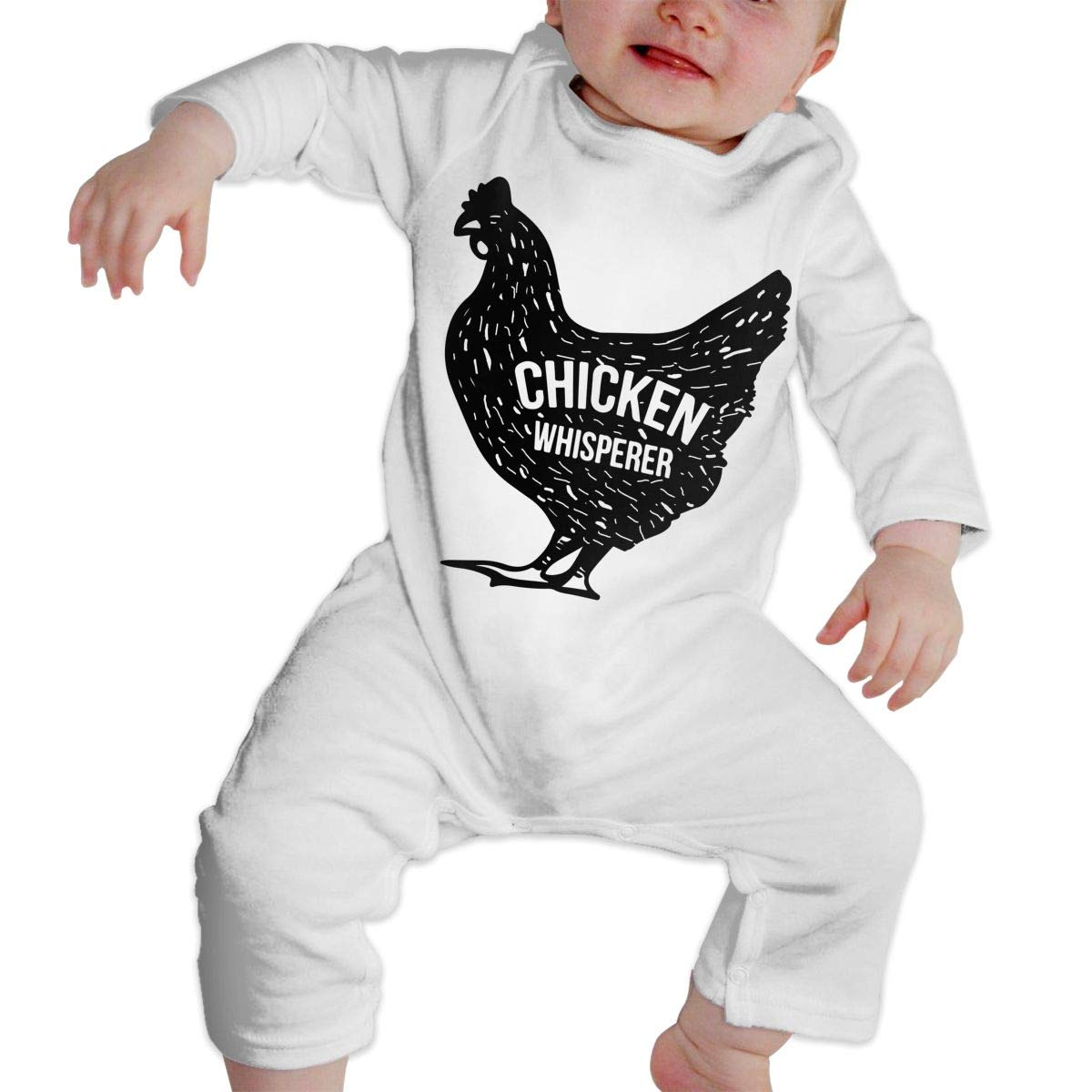 Db84UR@5p Newborn Baby Girls Boys Long Sleeve Jumpsuit Bodysuits & One-Piece Suits Warm Chicken Whisperer Cotton Crawling Suit Jumpsuit
