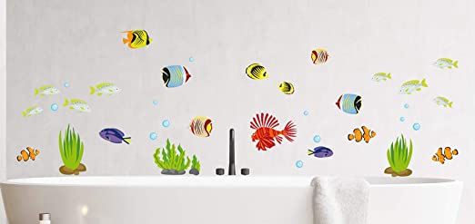 Mabi In Design Fische Wandtattoo Wandsticker Aquarium Wandbild Badezimmer Meer Meerestiere A103 Amazon De Kuche Haushalt