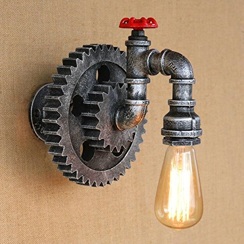 HOMEE Wall lamp- american village retro industrial wind turbine creative iron decoration wall lamp theme restaurant bar wall lamp --wall lighting decorations by HOMEE