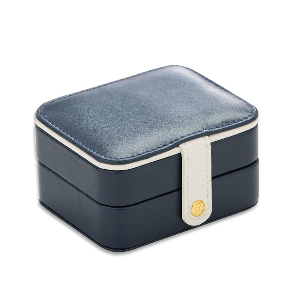 Wicemoon Caja De Joyería Cosmética, Caja De Almacenamiento De La Joyería De Cuero De La PU De 2 Capas con El Regalo Erróneo del Anillo para La Mujer 11 * 9 * 5.5cm