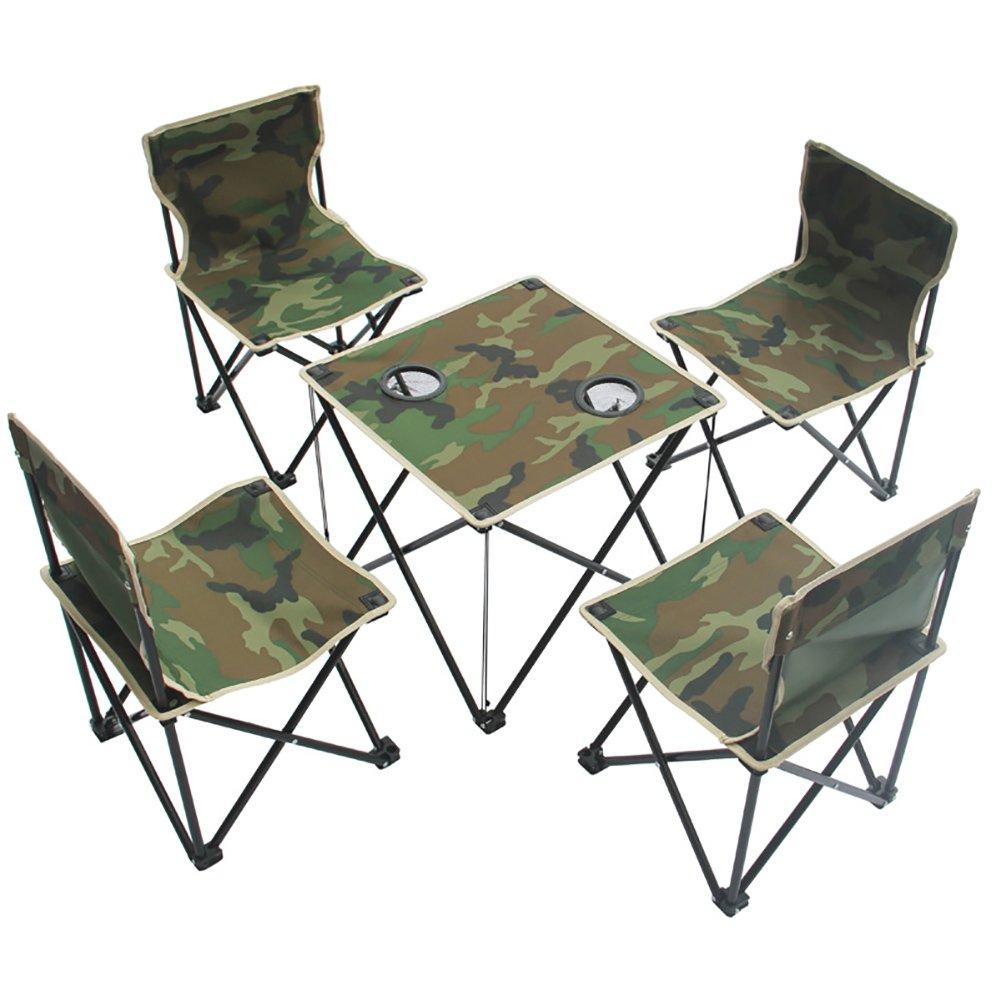 Outdoor Klappstuhl Camo 3-teiliges Set Camping Tische Und Stühle Selbstfahrertour Portable Freizeitstuhl