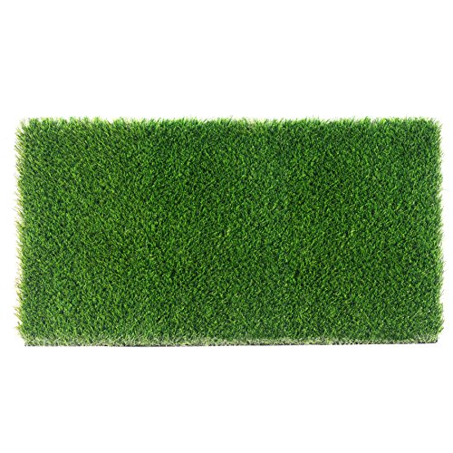 (ZestyNest Artificial Grass Doormat with SmartDrain Technology - Welcome Door Mat for Entrance Way & Porch- Outdoors and Indoors (24X18 Inches))