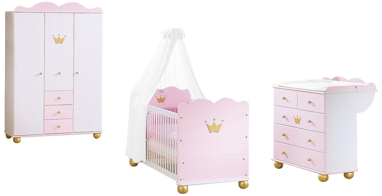 Prinzessin Babyzimmer pinolino 101655g kinderzimmer prinzessin karolin i mit 3 türigem
