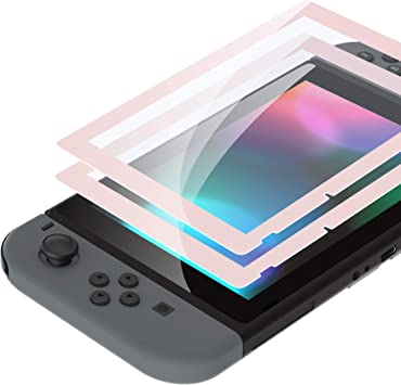 eXtremeRate 2 Protectores de Pantalla para Nintendo Switch Protector de Pantalla de Vidrio Templado Transparente HD con Borde Colores Anti-arañazos, Anti-Huella, Inastillable, Sin Burbujas(Sakura): Amazon.es: Electrónica
