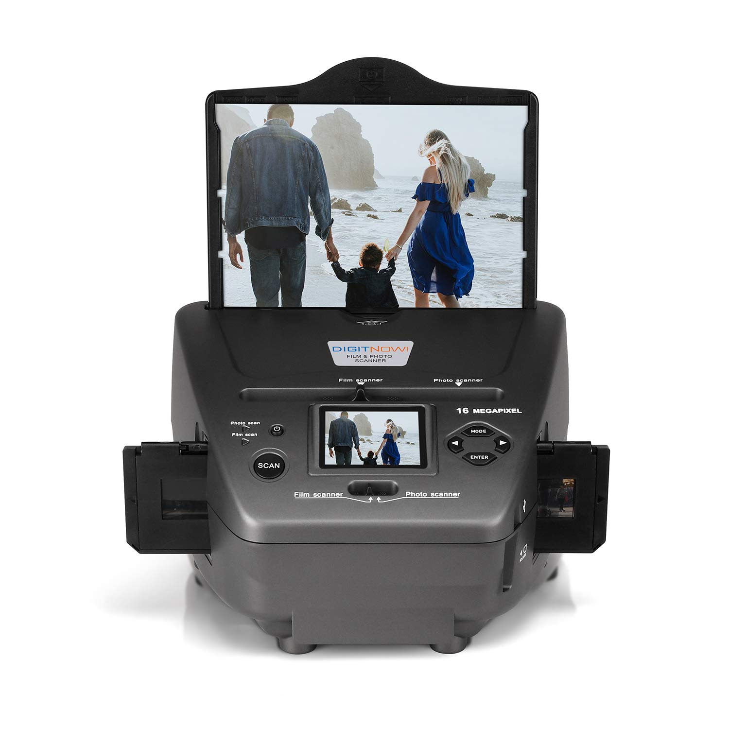 DIGITNOW All-in-One High Resolution 16MP Film Scanner, with 2.4'' LCD Screen Converts 35mm/135slides&Negatives Film Scanner Photo, Name Card