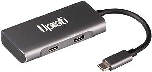 UPTab 4-Port USB C Gen2 10G Hub - 2-Port USB-A and 2-Port USB-C - Portable USB-C Hub for MacBook Pro, iMac, MacBook Air, Mac Mini, Surface Pro, Pixel Slate, Galaxy and More